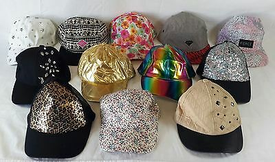 Wholesale Lot of 49 Womens Baseball Caps Hats Mixed Styles Brand New Novelty