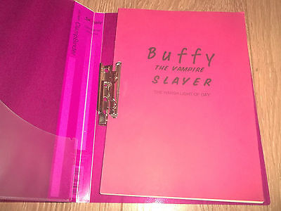 "Buffy The Vampire Slayer ~ Shooting Draft Script "" Harsh Light Of Day "" 1999"