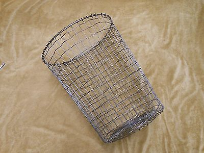 NOS Vintage Industrial Wire Mesh Trash Waste Basket Old Office