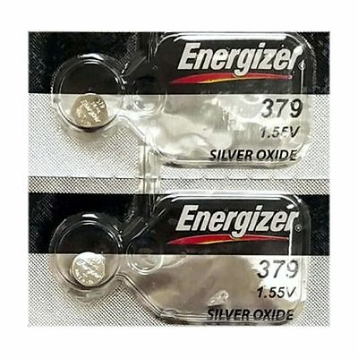 2 ENERGIZER 379 SR521SW SR521 V379 SILVER OXIDE watch battery