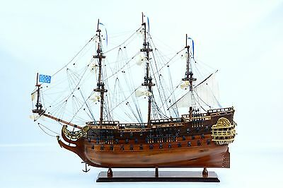 """French """"La Furieux"""" Wooden Tall Ship Model 36"""""""