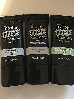 (1) Maybelline Master Prime By Facestudio Primer, You Choose