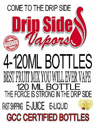4-120ml Bottles PREMIUM E-JUICE-E-LIQUID-100+ FLAVORS TO PICK FROM MADE IN USA