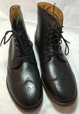 20a3fa12cee8 MENS H BY Hudson Angus Brogue Leather Lace Up Smart Ankle Boots Size ...