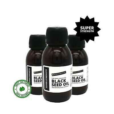 SUPER-STRENGTH Black Seed Oil - 100% Pure Virgin, Raw, Cold-Pressed & Unfiltered