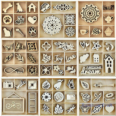 Kaisercraft Wooden Flourish packs / storage box 60 selections Amazing Beautiful