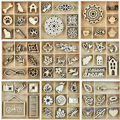 Kaisercraft Wooden Flourish packs / storage box / 36 selections