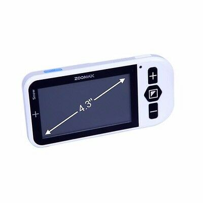 "Zoomax Snow 4.3"" Screen 2016 Model - Magnifer for poor vision"