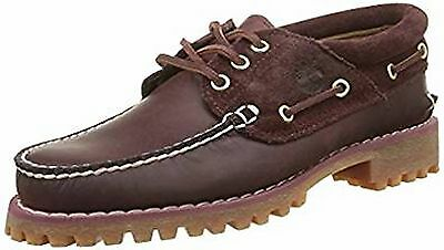 Bnwb Timberland A163Y Men's Tfo Classic 3 Eye Burgundy  Boat Shoes Rrp £105