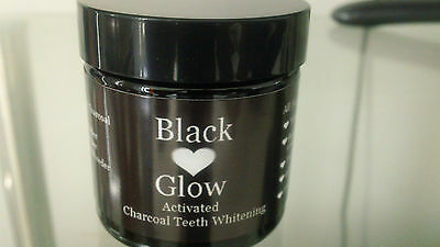 Activated Charcoal Teeth whitening Powder Natural Stain Remover 60 ml Detox.