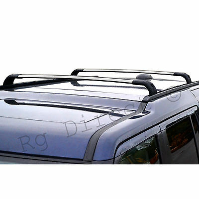 Land Rover Discovery 3 + 4 OEM style Roof Rack Cross Bars Set Silver  2004-2015