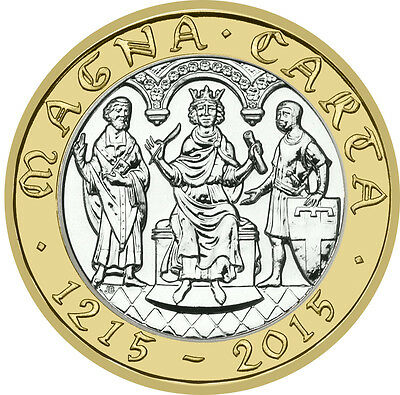 2015 £2 Magna Carta Declaration 800Th 31/32 Almost Uncirculated Two Pound 2 @