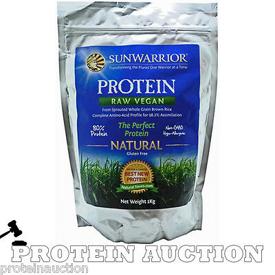 Sunwarrior Classic Protein 1kg Natural Vegan Whole Grain Brown Rice Protein