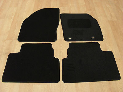 Ford Kuga (2008-2012) Fully Tailored Car Mats in Black-OVAL Fixing Hole Locators