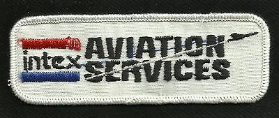 Vintage INTEX AVIATION SERVICES Aviation Aircraft Collectors Patch