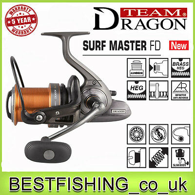 Dragon Surf Master FD - beach fishing, long casting, sea spinning reel, rolle