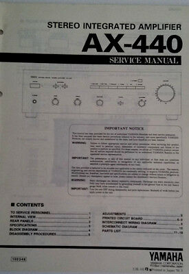 Service Manual Stereo Integrated amplifier AX-440