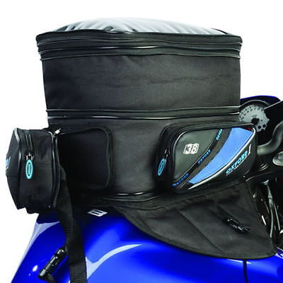 Oxford 1st Time 38L Magnetic Expanding Motorcycle Tank Bag w/ Waist Bag - OL432