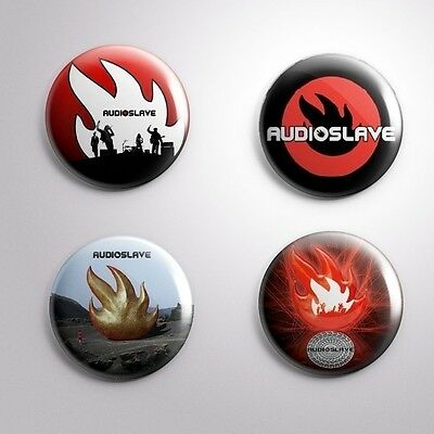 4 AUDIOSLAVE - Pinbacks Badge Button 25mm 1''