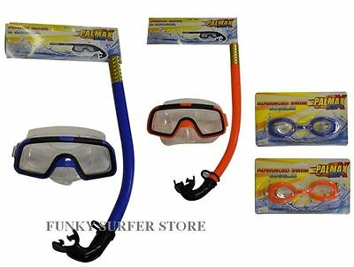 Adult& Kids Mask And Snorkel Set Scuba Dive Swimming Snorkelling Sets