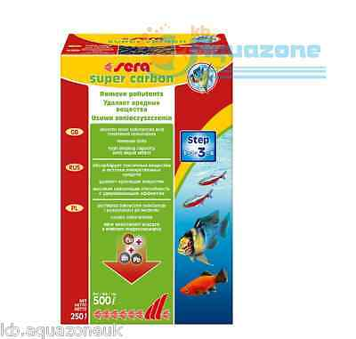SERA * Super CARBON 250g *  Aquarium filter peat * NEW