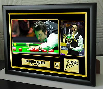 Ronnie O'sullivan World Champion Snooker Framed Canvas Print Signed.Great Gift