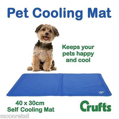 Pet Cat Dog Cooling Mat Gel Padded Bed Non Toxic Heat Relief Travel Cage Home