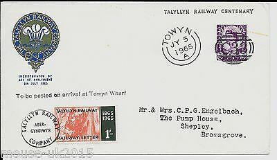 Gb 1965 Talyllyn Cover (1/- Stamp )