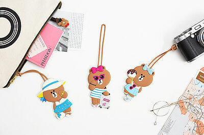 LINE FRIENDS Character Travel Luggage Name Tag 3Types CHOCO