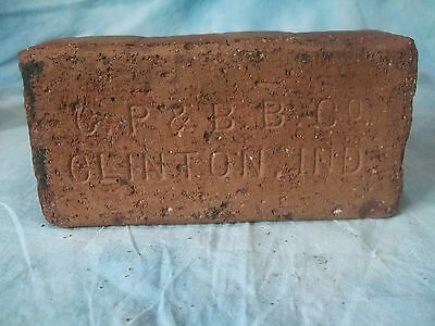 C.P & B.B. Co. Paver brick     Antique brick Made in  Clinton, Indiana
