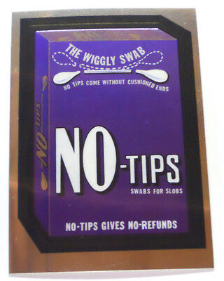 2014 Topps Wacky Packages Chrome Trading Card #91- No-Tips - Q-Tips