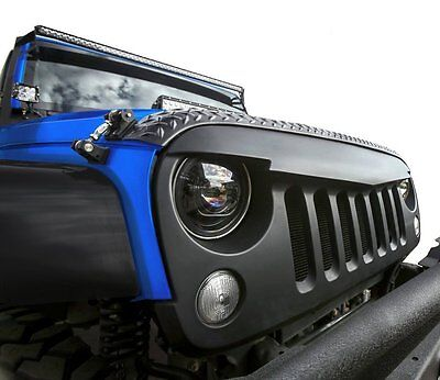 Angry Bird Front Matte Black Grille for Sahara Rubicon 07-16 Jeep Wrangler JK
