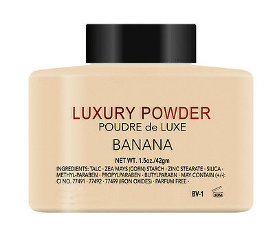 BANANA LUXURY POWDER NEW SEALED POUDRE de LUXE.1.5OZ (42g) MAKE UP COSMETIC