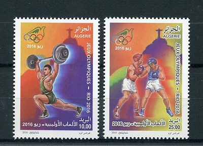 Algeria 2016 MNH Olympic Summer Games Rio 2016 2v Set Boxing Olympics Stamps