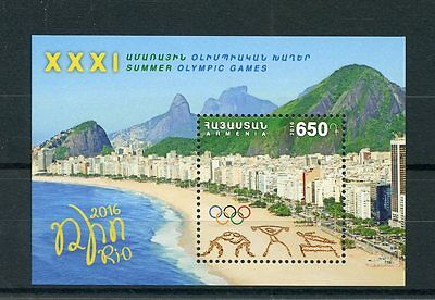 Armenia 2016 MNH Summer Olympic Games Rio 2016 1v M/S Beaches Olympics Stamps