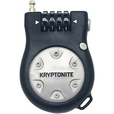 Kryptonite Retracting R2 Combo Lock 2.4mm Cable with Combo Road Urban Safety