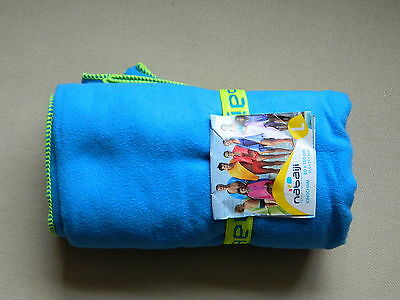 Nabaiji  Lightweight Compact Microfibre Swim Towel Blue  Highly  Absorbent New