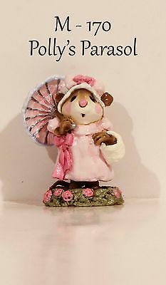 "Wee Forest Folk M-170 Polly's Parasol Pink Initialed By ""AP"" With WFF Box"