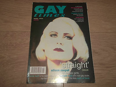 Gay Times Magazine - May 1994 Issue 188 - Alison Moyet Cover Plus Andy Bell