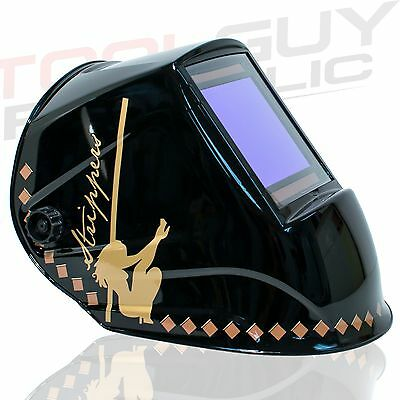 "Extra Large View Auto Darkening Welding Helmet STRIPPERS - 4"" x 3.65"" View"