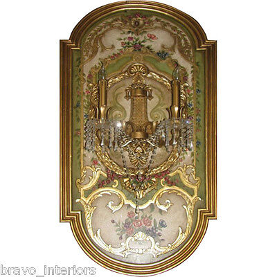 """Sconce Mirror Wall Tall 62"""" Florence Italian Style Handmade New Free Shipping"""