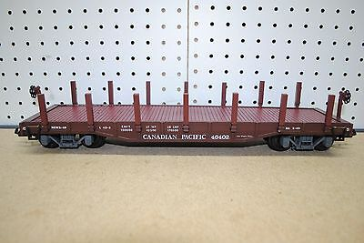 Aristo-Craft ART-46305 CP Canadian Pacific Flat Car w/Stakes *G-Scale*