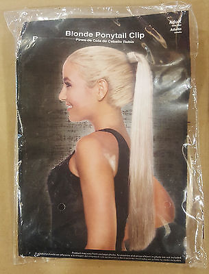 Adult Blond Pony Tail Clip