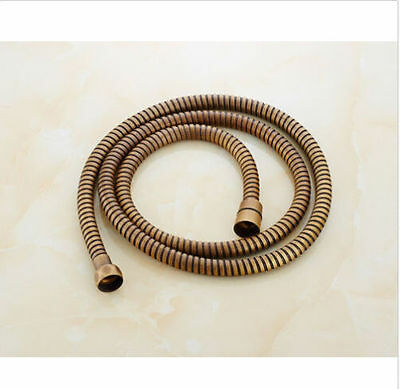Bathroom Accessories Antique Brass Replacement Handheld Shower Hose 59 Inches