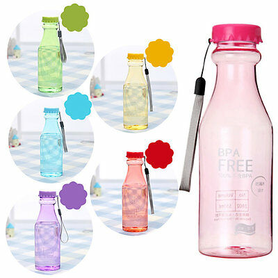 Candy Color Unbreakable Leakproof Plastic Cup 550ml Portable Water Bottle TY