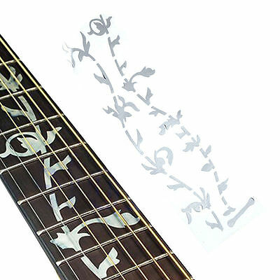 Tree Of Life Fretboard Inlay Sticker Marker Fret Decal Silver for Guitar Bass