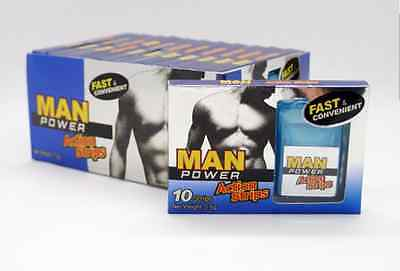 Male Sexual Enhancement Supplement  MAN POWER STRIPS for libido & longer sex NEW