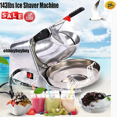 143lbs Ice Shaver Machine Snow Cone Maker Electric Crusher Shaving Summer Cool H