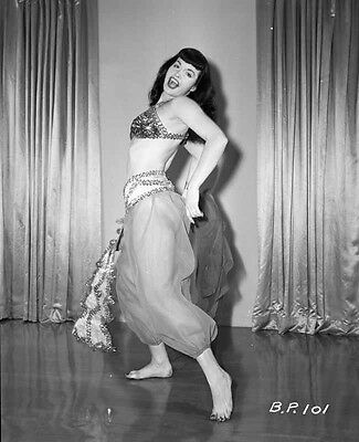 Bettie Page Posed in Arabian Costume High Quality Photo