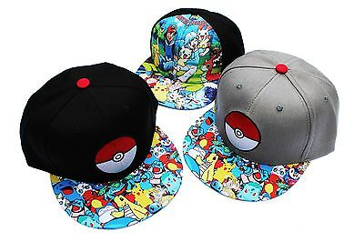 UK SELLER Adults/ Kids Pokemon Go Baseball Cap Unisex Hat Pikachu Pokeball